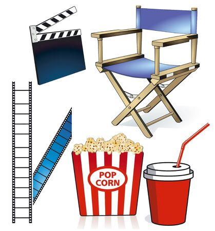 Cinema and Motion Pictures Vector