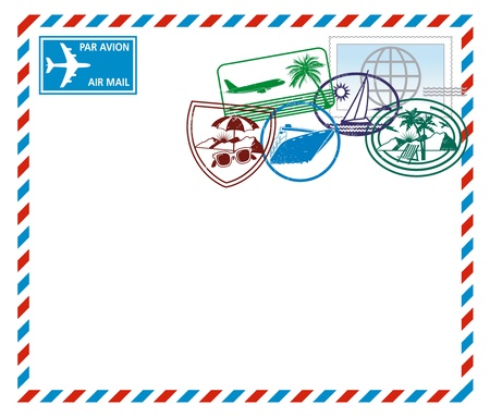 Airmail letter Stock Vector - 14447404