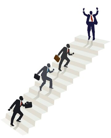 growing up: successful ascent Illustration