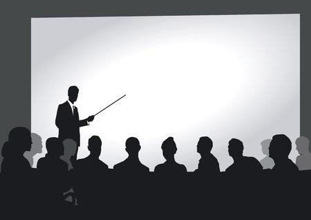 Presentatie in het auditorium