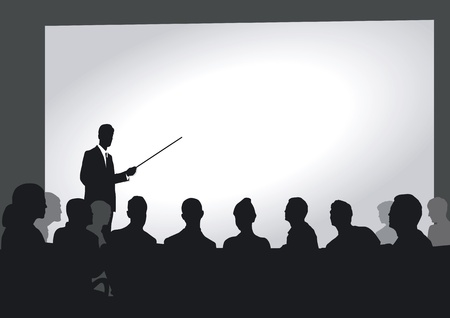 referat: Presentation in the auditorium Illustration
