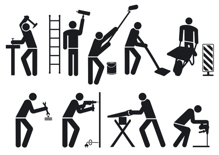 Craftsmen pictogram Vector