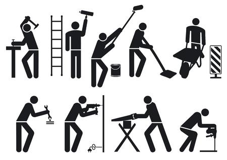 schlosser: Handwerker Piktogramm