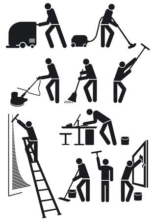 haush�lterin: Reiniger Piktogramm Illustration