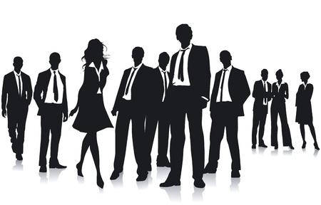 solvant: Groupe de gens d'affaires