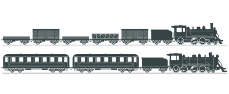 railway engine: Steam railway Illustration
