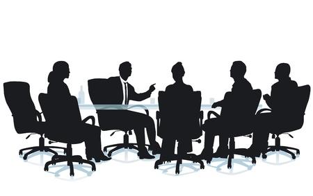 Office sessie interview Stockfoto - 14636545