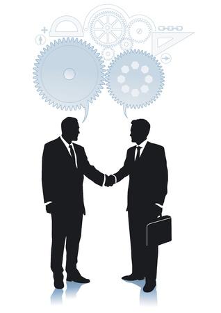 compromiso: Acuerdo y la cooperaci�n Vectores
