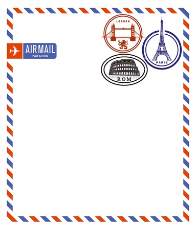 by air mail: Correo a�reo