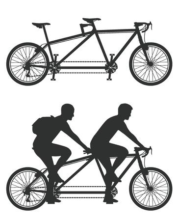 tandem: Tandem cyclist Illustration