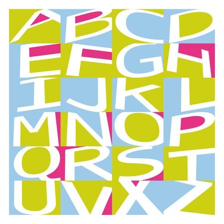alphabet graffiti: Graffiti alfabeto Vectores