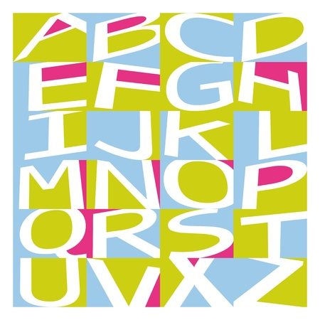 Graffiti alphabet Ilustracja