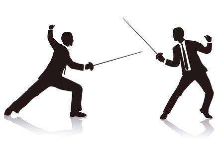 fencing duel Stock Vector - 14799858