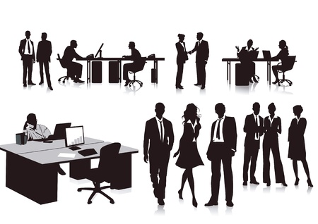 departmental: Employees in the office Illustration