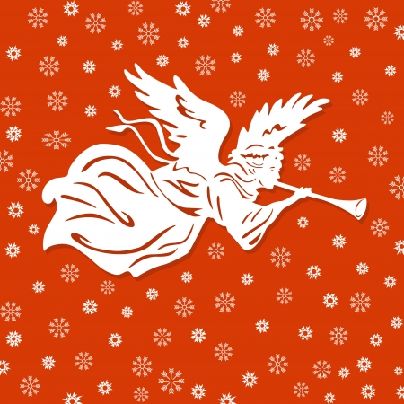 christian angel: �ngeles de la Navidad Vectores