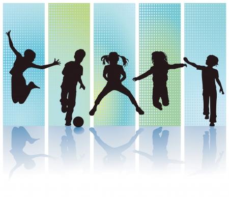 niños jugando en la escuela: Los niños se deleita