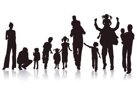 Padres felices Ilustración de vector