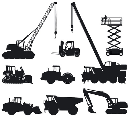 andamios: Maquinaria de construcci�n Vectores