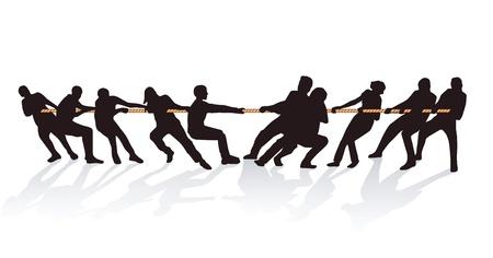 konflikt: Wraz z pociągnięciem liny