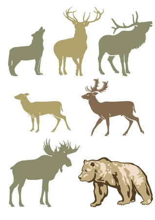 alces: Forest Animals Vectores