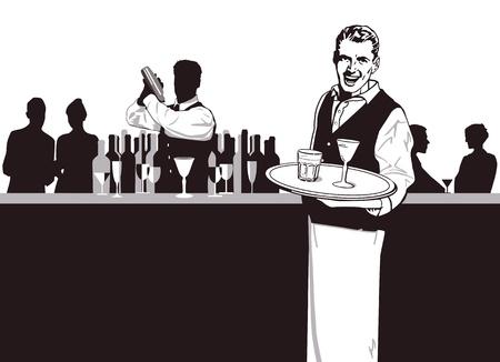 bartender: Les serveurs et barman