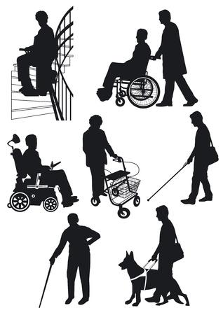 persiana: persona disabile Vettoriali