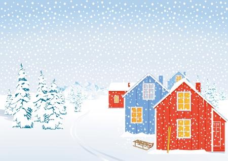 bosque con nieve: Paisaje de invierno en la nieve