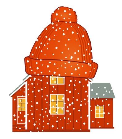 insulation: warm house Illustration