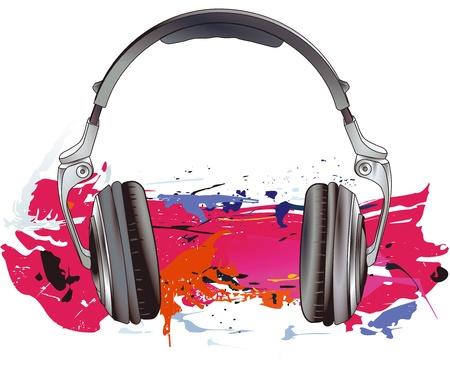 Headphones energy Stock Vector - 15645715