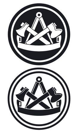 Tischlerei Zunftzeichen Stockfoto - 15695542
