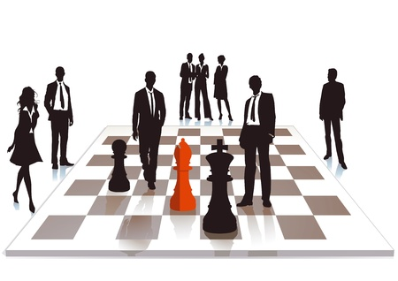 Business chess Stock Vector - 15695544