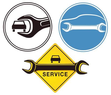 auto sign: Auto Reparaci�n signo Vectores