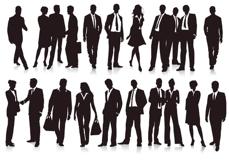 Businessmen and Businesswoman Stock Vector - 15828269
