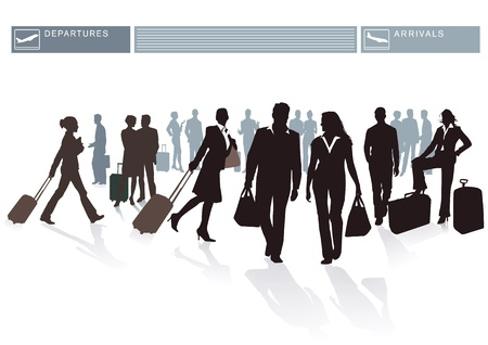 Airport Passengers Stock Vector - 15842297