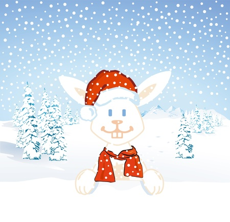 Santa Bunny Stock Vector - 15932104