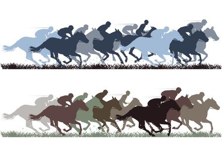 gagnants: Course de chevaux Illustration