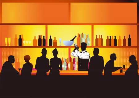 Night bar Vector