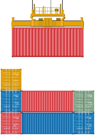 Container loading Vector