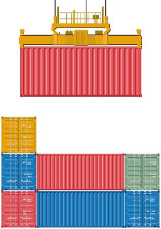 Containerbeladung Vektorgrafik