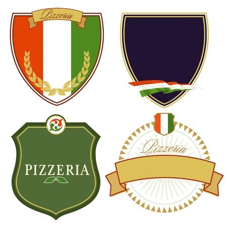 pizzeria label: Se�ales italianas