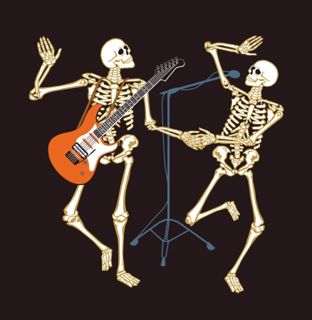skeleton concert Stock Vector - 15996088
