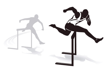 Sprint Hurdles Stock Vector - 15996090