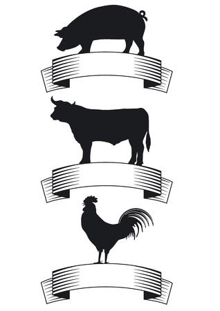 c�telette de porc: Boeuf, porc, volaille