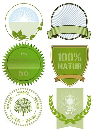 naturally: Organic and fresh food labels and badges