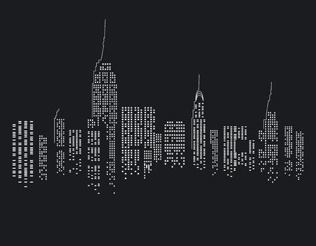 New York at Night Stock Vector - 17684613