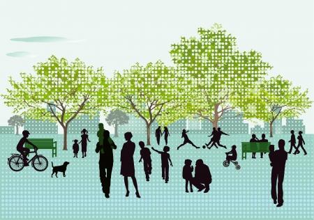 familia parque: Recreaci�n en el Parque