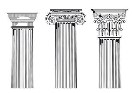 columnas romanas: Capiteles de columnas Vectores