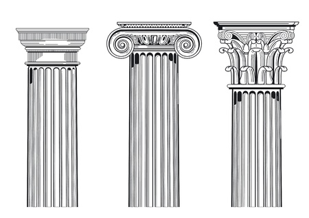 Column capitals Vector