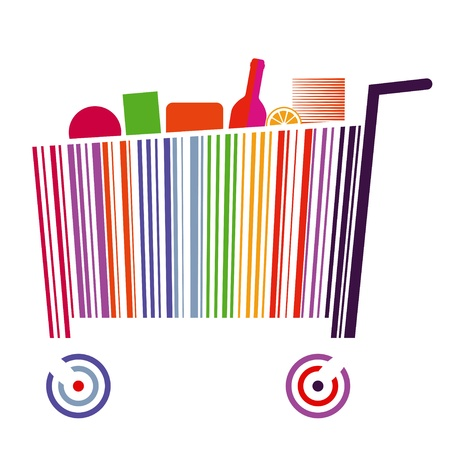 grab: Bar code cart Illustration