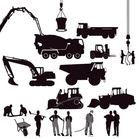 экскаватор: Строительство Иллюстрация